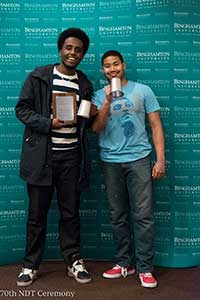Khalid Sharif, left, and Hakeem Muhammad, right. Photo courtesy of the National Debate Tournament.
