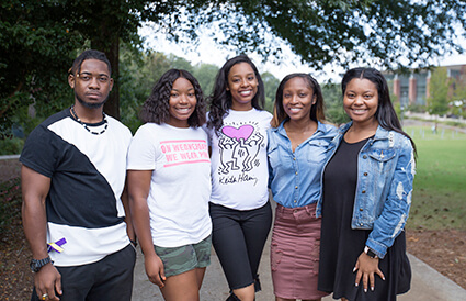 Members of the National Society of Collegiate Scholars (NSCS) at the University of West Georgia.