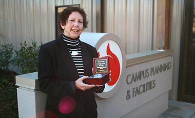 Her resume reads like the reference box of a University of West Georgia campus map: Arbor View, Campus Center, Coliseum, Stadium, Greek Village, Nursing Building, Visual Arts Building, Center Pointe – University Architect Elsa Pena has played a major role in all of them. Overall, she has had an impact on over 1 million of the total 2.6 million square feet of building space on campus.