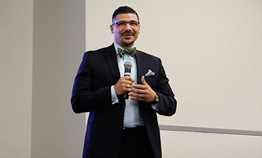 Dr. Steve Perry, the founder and principal of Capital Preparatory Magnet School in Hartford, Connecticut and an accomplished author and media education contributor, was the main speaker at the University of West Georgia's sixth annual Dr. Martin Luther King program.