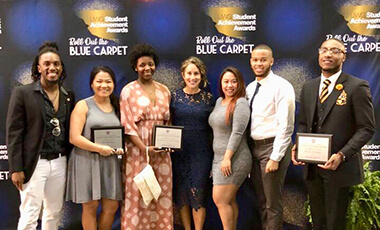 The University of West Georgia rolled out the blue carpet last week, recognizing more than 100 students who have served as leaders on campus this year during the 2018 Student Achievement Awards.