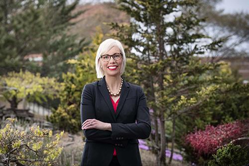 Dr. Meredith N. Brunen standing outside