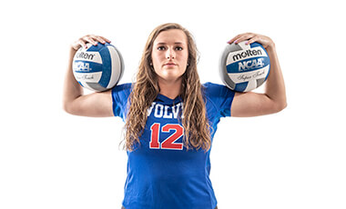If she can help it, McKenna Wharton's not going to have a desk job. Her feet are too accustomed to constantly moving to allow that. Wharton, an outside hitter on the University of West Georgia volleyball team, plans to apply to nursing schools after she graduates from UWG in May 2020 with a bachelor's degree in health and community wellness.