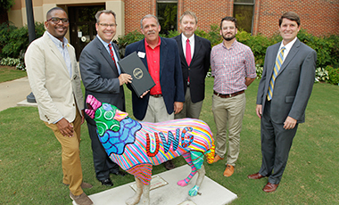 Thanks to the City of Carrollton, UWG Wolves now have their own day. Mayor Walt Hollingsworth and the City Council recently proclaimed September 17, 2016, as University of West Georgia Day.