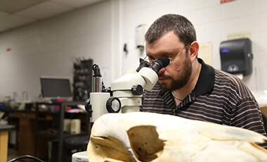 The University of West Georgia offers an accommodating environment for all students to succeed and thrive, both traditional and nontraditional. Thirty-five-year-old Christian Bryant, an undergraduate majoring in biology, is one example of the latter type of student, and UWG has become a place for him to plant his roots and explore his interests.