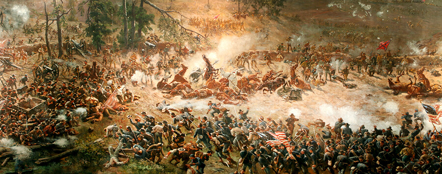 Photo of the Battle of Atlanta Cyclorama painting