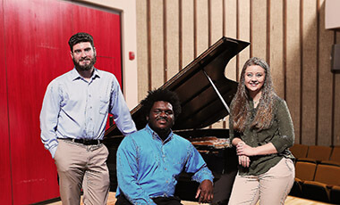 One of the many lessons taught here at the University of West Georgia is that practice and perseverance are keys to success. Just ask the three UWG music students who recently claimed victory in the Georgia Music Teachers Association State competition.