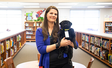 Ask any student at South Salem Elementary what his or her favorite part of school is, and you'll get a quick answer – Mr. Booker T. Pug. Booker is a 3-year-old reading therapy dog who hangs out in the school's media center.