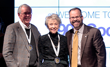 The University of West Georgia recently honored the generosity of its highest level donors and welcomed them into the 1906 Society at a ceremony held in the Campus Center Ballroom. UWG President Dr. Kyle Marrero recognized 50 members who attended the ceremony and presented them with bronze medallions.