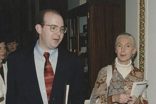 Rob Hood with Jane Goodall