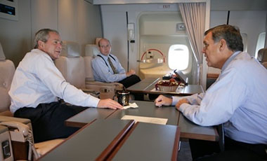Rob Hood and George W. Bush on Air Force One