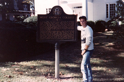 Rob Hood at then-West Georgia College in 1987