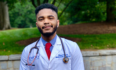 When Raequon Jones graduated from the University of West Georgia's Tanner Health System School of Nursing in 2017, he had plans to work in Emory's Nurse Residency Program, focusing on the intensive and coronary care units.