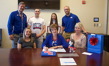 Dr. Karen Clevenger returned to the University of West Georgia carrying a ceramic figurine of a cheerleader she'd owned for more than 45 years. When she left campus, she left the figurine behind, and now it serves as a symbol of the UWG alumna's generosity.