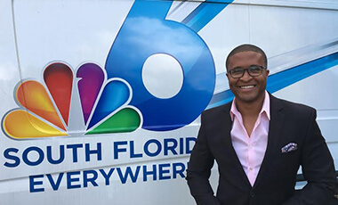 University of West Georgia alum Darryl Forges is the perfect example that proves hard work can get you anywhere. Forges, who started as an intern at WSB in Atlanta, continuously worked his way up through the industry to his current position as a news reporter at WTVJ NBC 6 in South Florida.