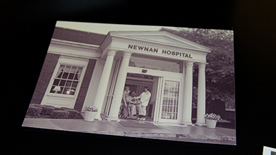 Snapshot from the historic Newnan Hospital, where UWG Newnan now resides.