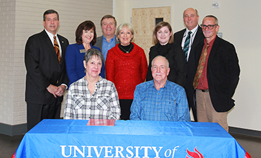 Phyllis and Jim Rogers of Newnan recently honored the University of West Georgia with the endowment of a scholarship for a UWG Newnan student as well as a monetary gift for the purchase of educational nursing equipment at the Coweta campus.