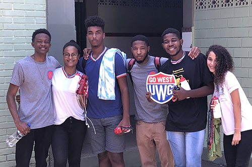 African American students in Brazil on a UWG study abroad trip