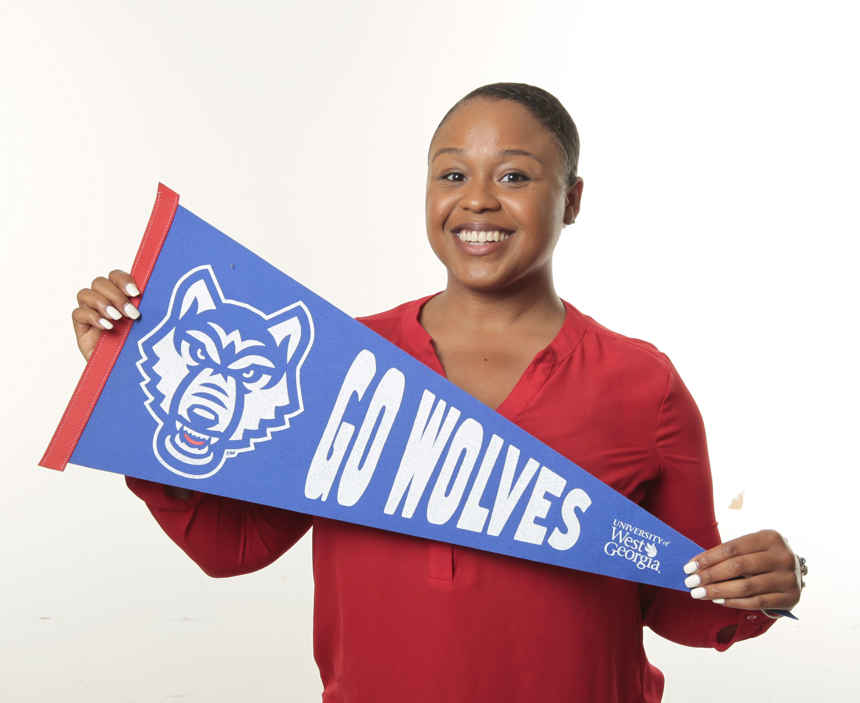 Ashley Arnold with UWG Spirit