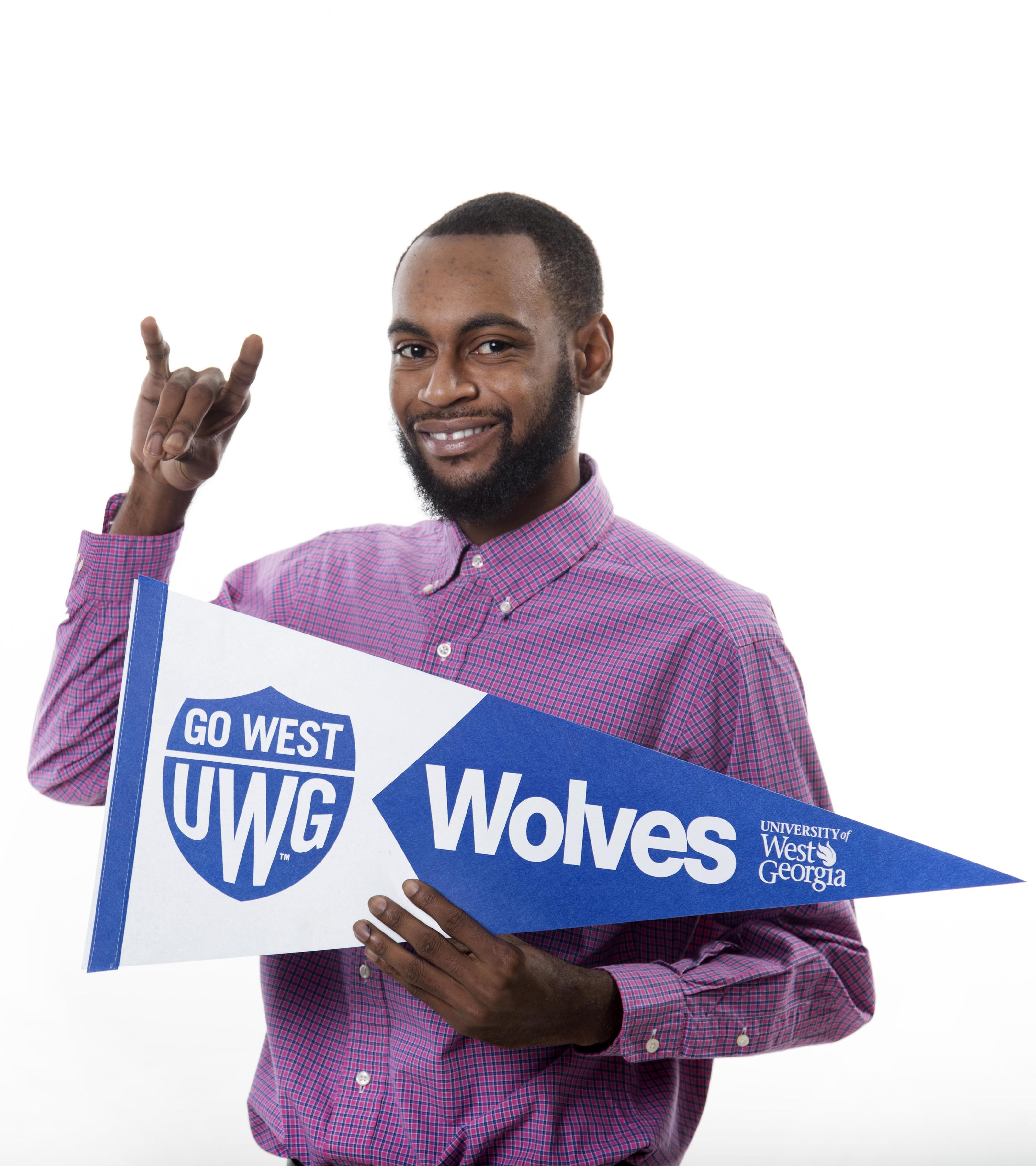 Dalvin Hicks with UWG Spirit