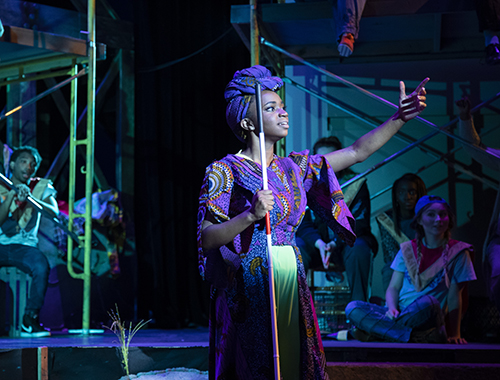 UWG Theatre student performing no stage