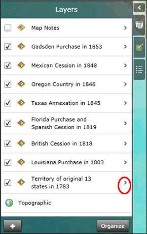 Let S Start With Territory Of Original 13 States In 1783 Click The Details Of The Layer