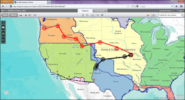 GIS For Social Studies - Us westward expansion map