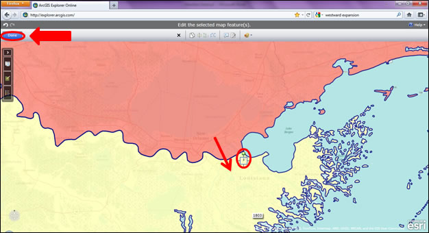 8 The Point Symbol Is Now Editable Move It In The Territory Of Louisiana Purchase Then Click Done